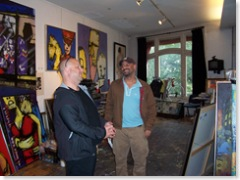 Pablo C interviewt Frank Black in het atelier van Herman Brood
