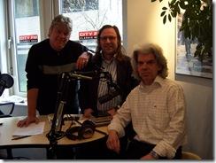 Links presentator Ferry Windsant en rechts programma-maker Ben van Es (ook van Little Rock Concerts - Den Haag)