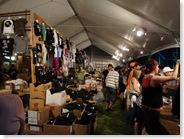 Merchandising tent