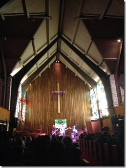 Curtis in de kerk