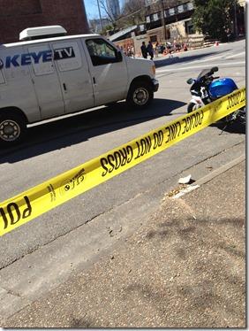 final crime scene alwaar de auto tot stilstand kwam