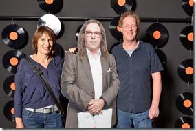 4-12-2014 40 jaar WV gastenboekfotos (3) Marjolein Zonneveld (Mojo Concerts), Erik Mans (TivoliVredenburg)