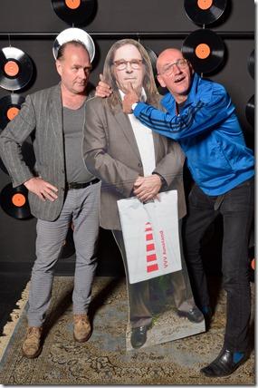 4-12-2014 40 jaar WV gastenboekfotos (39) Johan Rebergen (De Wenkbrauwerij) en Gerard Olthaar (De Stijle, Want)