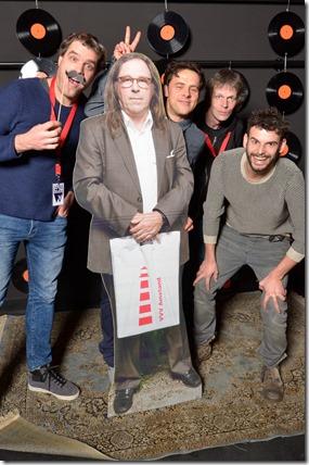 4-12-2014 40 jaar WV gastenboekfotos (44) Sytse Wils (TivoliVredenburg en Into TGWO), Robert Meijerink (Doornroosje, Eurosonic), John van Luijn (Kees van Hondt, Melkweg), Ide Koffeman (Mojo Concerts)