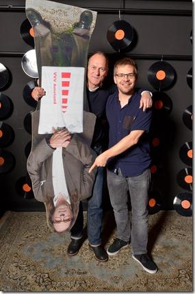4-12-2014 40 jaar WV gastenboekfotos (61) Paul van Meelis (schipper en parttime badmeester) en Henk-Jan Onnink (AAA)
