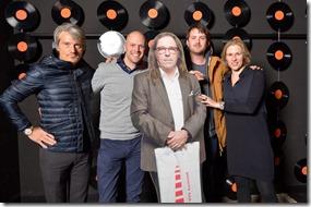 4-12-2014 40 jaar WV gastenboekfotos (68) Peter van der Veer (Ahoy) Wouter de Wilde (Greenhouse Talent NL) en Jolanda Jansen (Ahoy-Greenhouse Talent)