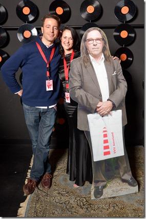4-12-2014 40 jaar WV gastenboekfotos (73) Clotaire Busch (Junzi Art - Paris) en Silvia Biemans (Butterfly Inc)