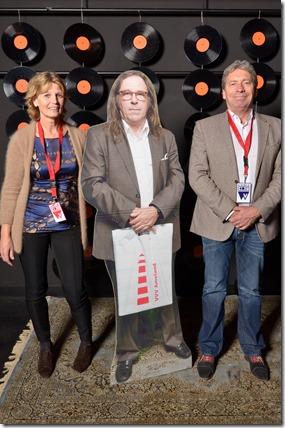 4-12-2014 40 jaar WV gastenboekfotos (84) Annemieke Heffels (NPO) en Matthieu 'Matje' Heffels (zelfstandig journalistschrijveruitgever)