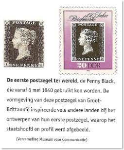 The Black Penny en DDR jubileumzegel