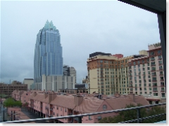 city view vanaf de smoking area